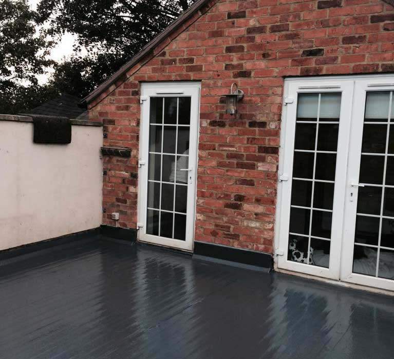 GRP Roofing completed on a roof terrace