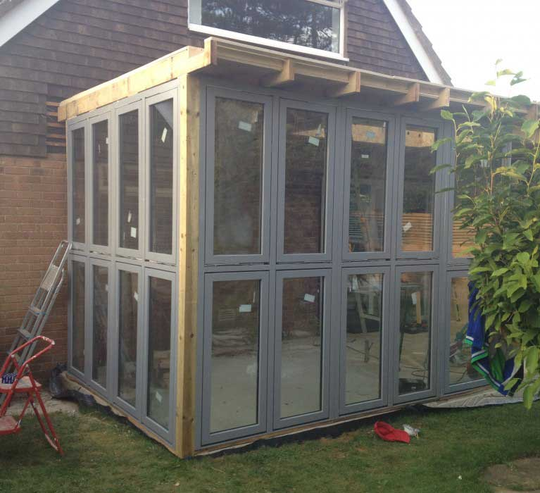 During build of garden room