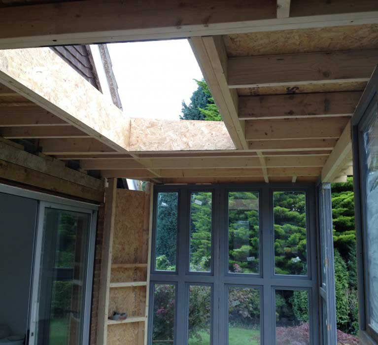 During build of garden room