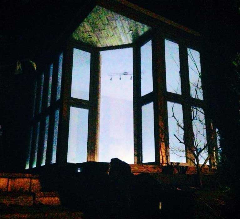 Finished Garden Room At Night
